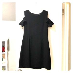 NWT Black cold shoulder Club Monaco dress LBD